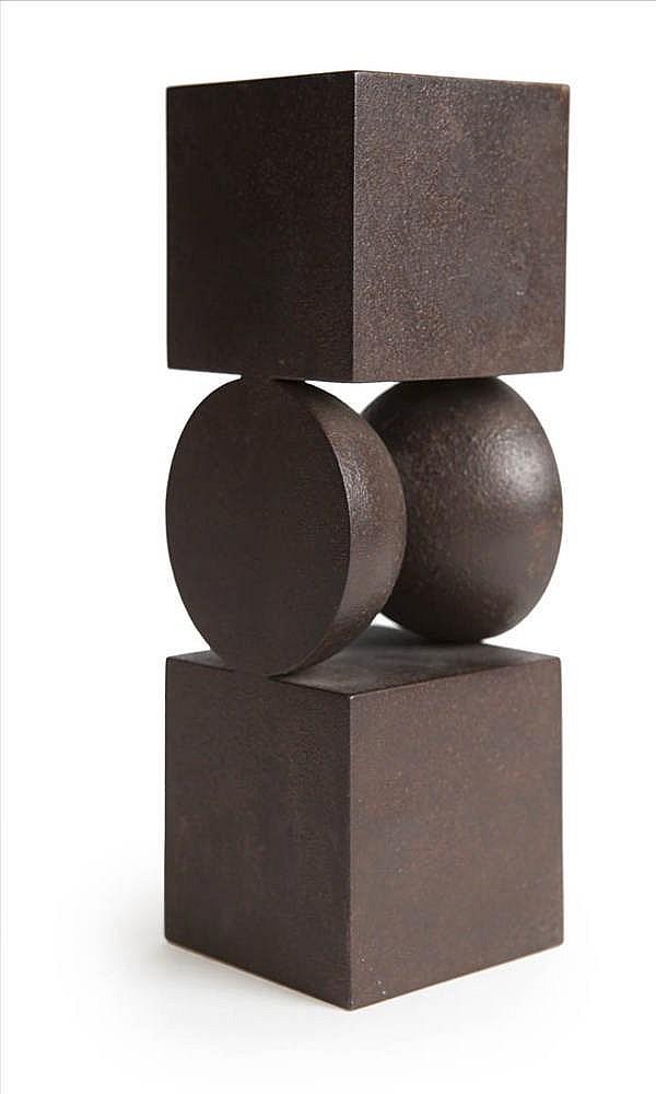 RENAAT RAMON (°1936)Untitled. Bronze, rust-brown patina.21 x 7 x 7