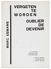 MARC EEMANS (1907-1998)Second 'deluxe' edition on 20 copies, this being nr. L.6. With two orig. etchings, both signed, dated and numbered in pencil. Orig. wrapper.