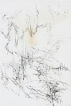 JULES LISMONDE (1908-2001)'Centovalli IV' (1964)  Charcoal on Japan paper. Signed and dated. Title, signature and date on the reverse. Framed. Discolouration. 710 x 475 mm