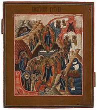 Icon of the Resurrection and the Descent into the underworld. Tempera on panel. Russia, 19th century work. Eikon number 888.255.