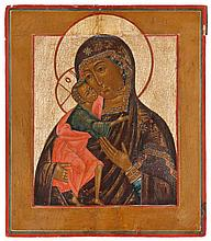 Feodorovskaya icon of the Mother of God. Tempera on panel. Russia, 19th century.