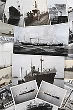 A collection of 108 orig. photographs and reprints of different kinds of ships.