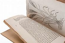 (Dodoens) Rembert Dodoens, Frumentorum, leguminum, palustrium et aquatilium herbarum, ac eorum, quae eo pertinent, historia. Additae sunt imagines vivae. Antwerpen, Ex Officina Christophori Plantini, 1556. In-8°. Titel, 271gen.pp. + index. Volledig