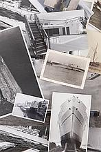 A collection of 145 orig. photographs of vessels and passenger ships.