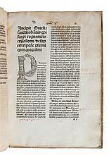 (incunable) Johannes Chrysostomos, Homiliae. S.l.s.n. (Urach, Conrad Fyner, ca. 1483-85). In-fol. 106ff.