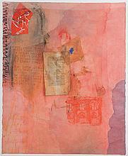 JAN VANRIET(1948) Collage, watercolour, charcoal, print and pencil, mo
