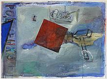 JAN VAN RIET(1948) Watercolour, gouache, pencil and collage. Signed, d