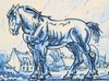 ALFRED OST (1884-1945) Horse. Chinese ink and watercolour. Framed. , Alfred Ost, €140