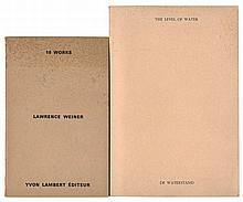 (Weiner) Lawrence Weiner, The level of water/ De waterstand. (Gent), Vereniging