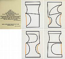 BERT DE BEUL(1961) Set of four screenprints (?). With Sheet with text.