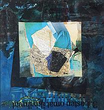 ANDRE BOGAERT (1920-1986) Untitled. Collage. Signed. Framed.