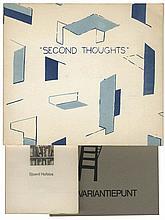 A set of three artist's books: Second Thoughts. Boeken. Invariantiepunt. All num