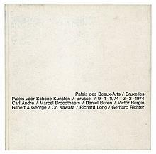 (Gevaert) Carl Andre, Marcel Broodthaers, Daniel Buren, Victor Burgin, Gilbert
