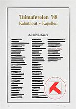 MARCEL VAN MAELE (1931-2009) Screenprint. Initials and annotation in p