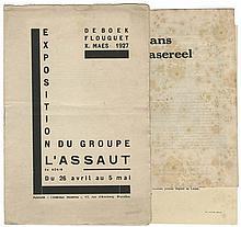 (modernisme) Baugniet. J.J. Gaillard. Wolfs. 1927. Exposition du Groupe L'Assaut