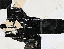 EDUARD BAL (1927-1999) Composition. Collage. Signed and dated in penci