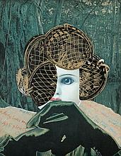 ANDREE ARTY (1922-2009) Collage. Signed and dated in white gouache. Fr