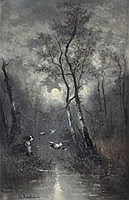 EDWARD MOERENHOUT (1801 - 1893) Opgeschrikte