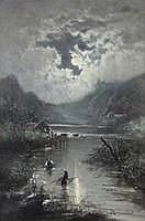 EDWARD MOERENHOUT (1801 - 1893) Vissers bij