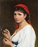 ALFRED GUILLOU (1844 - 1926) Charmante Esmeralda,