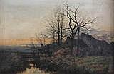 FERDINAND DE PRINS (1859 - 1908) 'Avond' Doek.