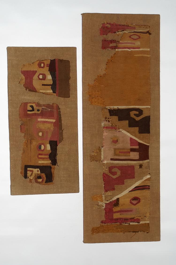 Wari fragments from a Tunic on Two Panels