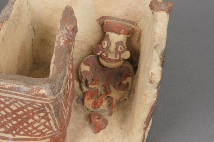 Chancay Animal Pen with Seated Shepard
