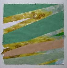 Untitled (Aqua/Yellow Ochre)