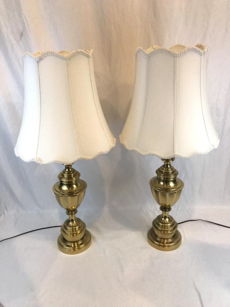 Pair of Stiffel Brass Lamps