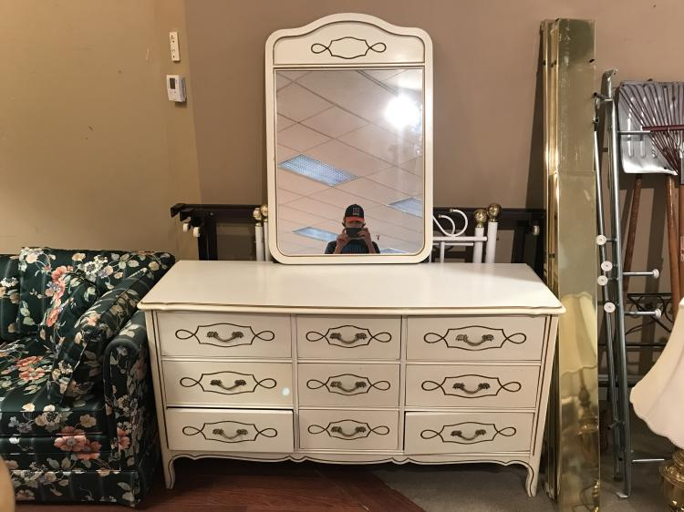 French Provential Dresser with Mirror