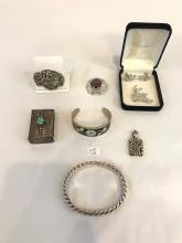 Mixed Lot of Sterling & Costume Jewelry Pieces