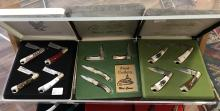 Four Boxed Mac Tools Racing Themed Pocket Knife Sets