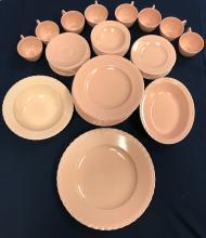 Vernon Kilns California Pottery Pink Dish Set