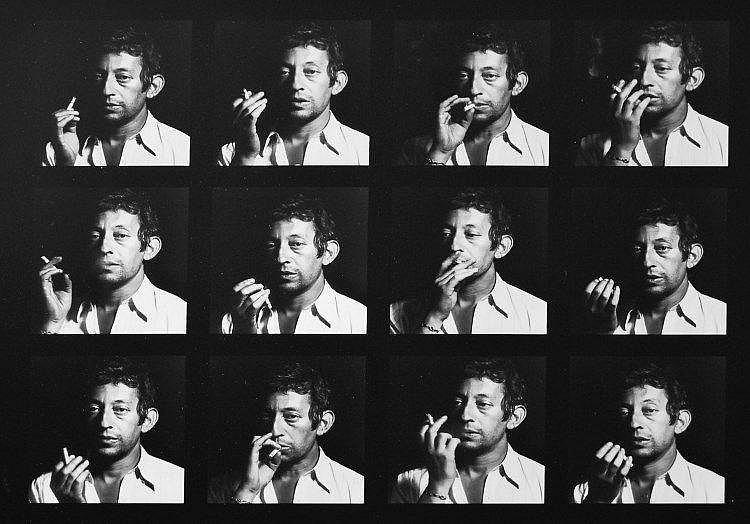 Tony FRANK, né en 1945 Serge Gainsbourg