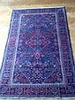 Fin KACHAN (Iran), vers 1980, laine kork, à décor géométrique