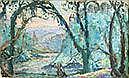 emmanuel De La viLLéOn 1858-1944 SOUS BOIS Gouache