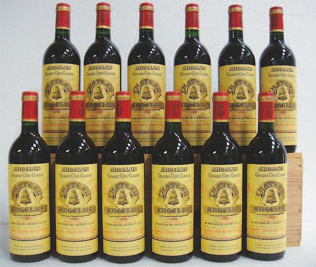 Wine: 12 Bottles CHÂTEAU ANGELUS (Caisse Bois)