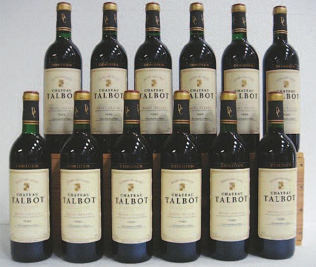 Wine: 12 Bottles CHÂTEAU TALBOT (Caisse Bois)