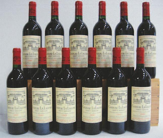 Wine: 12 Bottles CHÂTEAU LA LAGUNE (Caisse Bois)