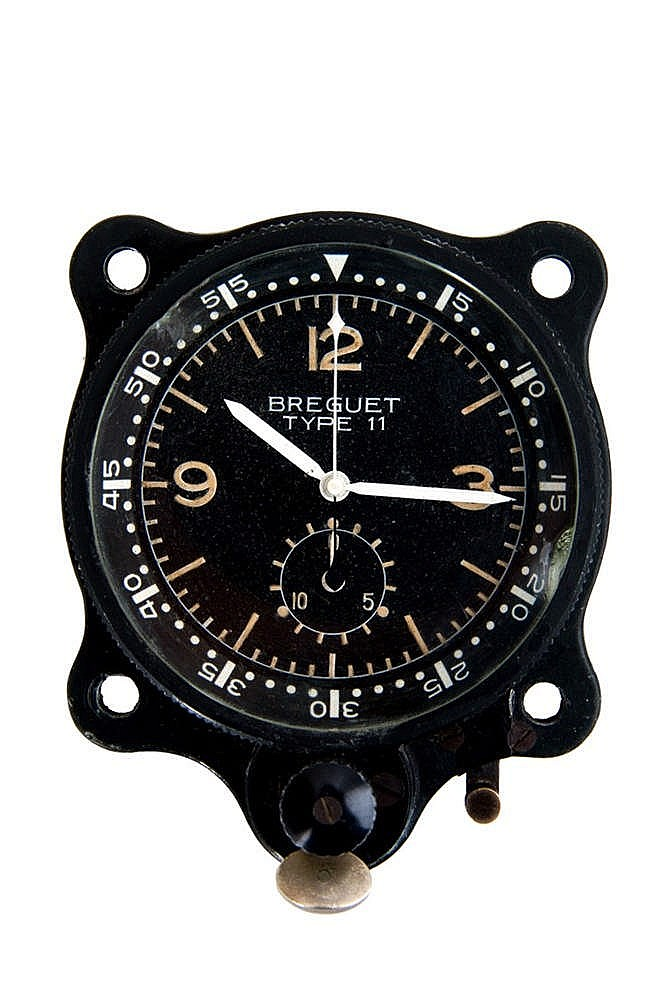 montre breguet type 11 vers 1960 montre chronographe de bord. Black Bedroom Furniture Sets. Home Design Ideas