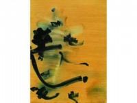 Nasser ASSAR, né en 1928 Composition fond jaune, 1962 Huile sur toile signée et datée en bas à droite 100 x 65