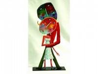 Christophe JEHAN, né en 1961 Les amoureux Sculpture en métal signée 70 x 23