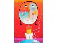 Christophe JEHAN, né en 1961 Pause café Huile sur toile signée en bas à droite 120 x 80