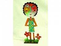 Christophe JEHAN, né en 1961 Petites fleurs Sculpture en métal signée Hauteur : 31 cm
