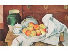 Paul CÉZANNE 1839-1906  Nature morte aux pommes  Estampe   12 x 21