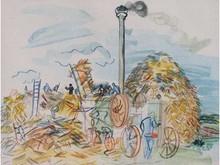 Raoul DUFY 1877-1953  La moisson  Estampe    15 x 20