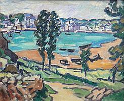 Louis VALTAT 1869-1952 LE PETIT PORT Huile sur