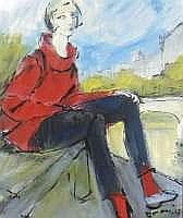 Mario BONAMICI, né en 1912 - Parisienne sur les
