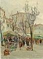 Jacques VAN DEN BUSSCHE né en 1925 FIN DE MARCHÉ,, Jacques