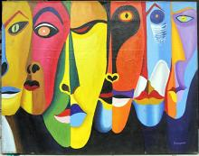 Oil Painting on Canvas by Oswaldo Guayasamin